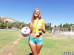 Brazilians like it sloppy after a football practice session with Jessie Rogers