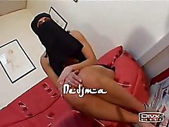 Sexy Arabian with Niqab talks sloppy before she sucks a cock and gets it up her arabik vagina like the real biotch she is.