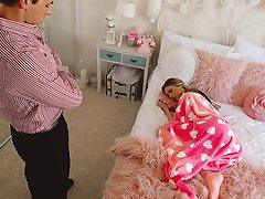 Lying Sitter Gets Creampied