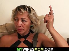 Girlfriends scorching mom fellating and railing his nasty cock