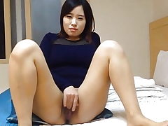Lovely Korean wife's grubby masturbation and hook-up