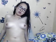 Girl with Glasses shows Funbags
