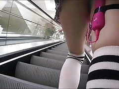 Girl Have fun Vibrator In Public and Uber Masturbation
