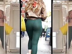 Jeans and latex culo dance