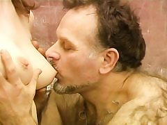 Mature old fur covered teacher fucks young sweet babe