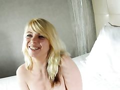 Incredible french blonde rails hard beefstick on web cam